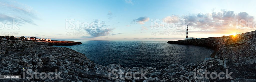 Lighthouse panorama royalty-free stock photo