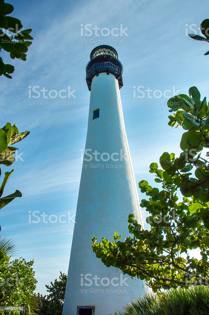 Lighthouse past the Trees stock photo