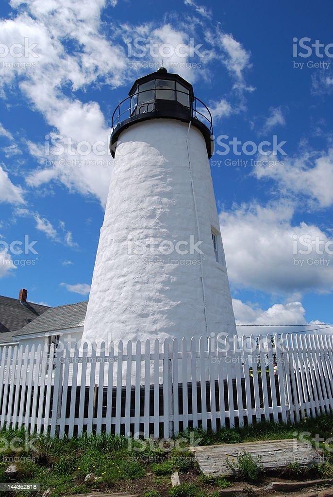 Lighthouse, Pemaquid Point stock photo