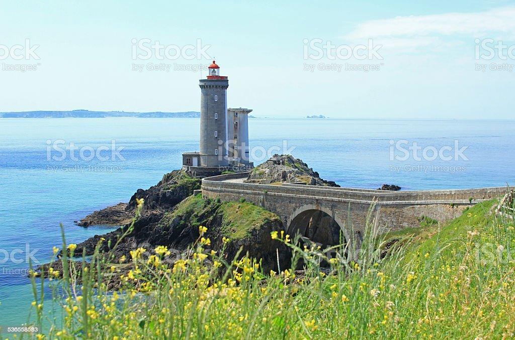 Lighthouse 'Phare du Petit Minou', France stock photo