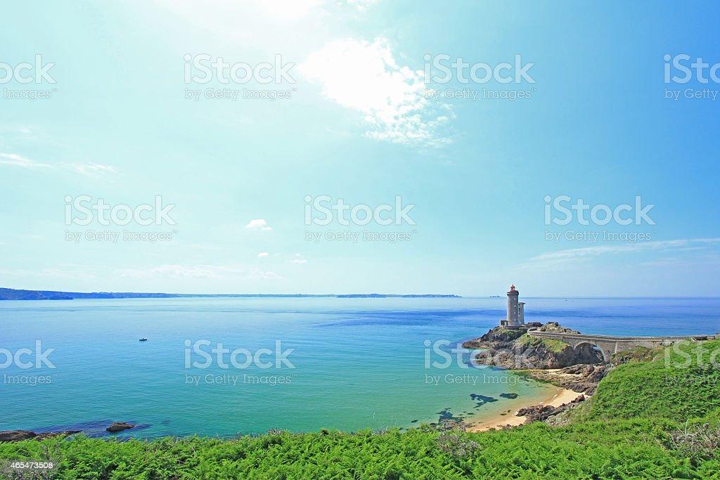 Lighthouse 'Phare du Petit Minou', Frankreich stock photo