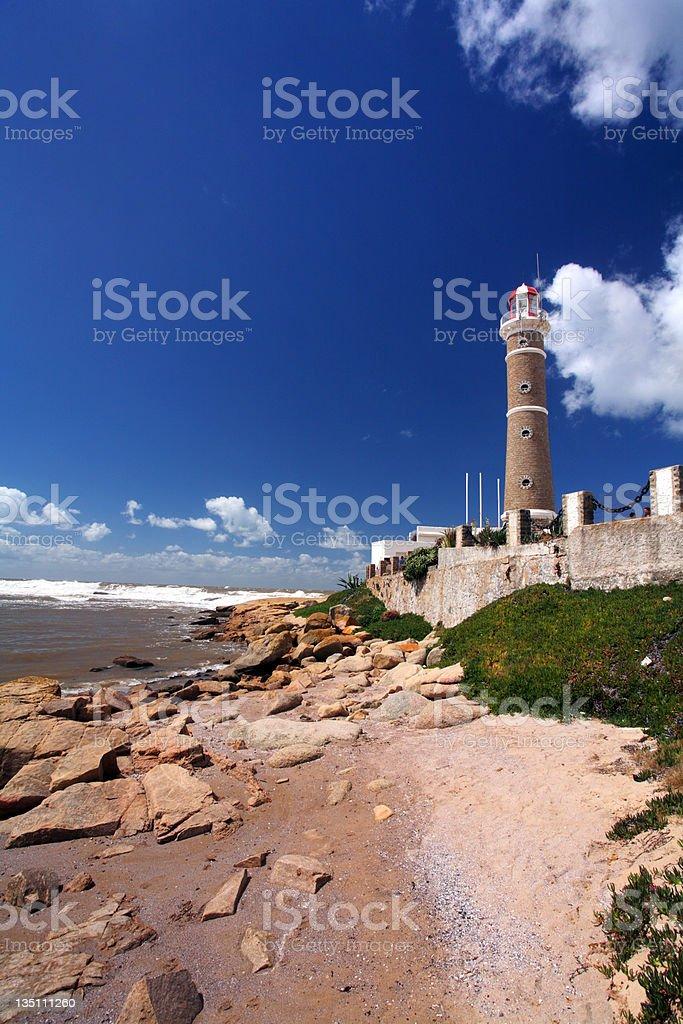 Lighthouse (Jose Inacio -  Punta Del Este) royalty-free stock photo