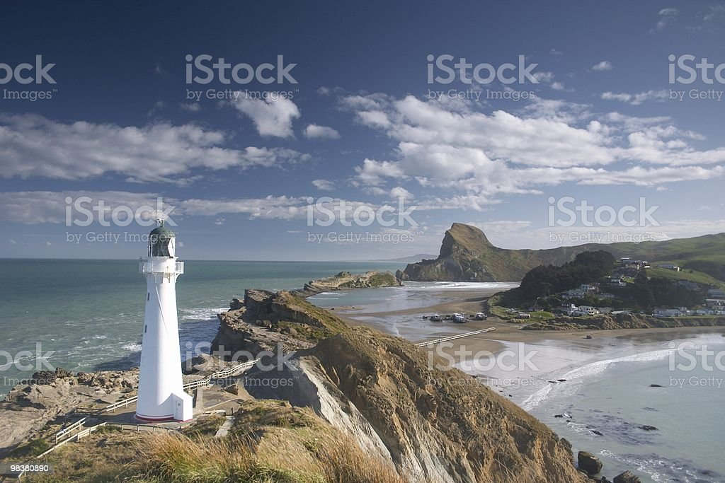 Lighthouse (castle point) royalty-free stock photo
