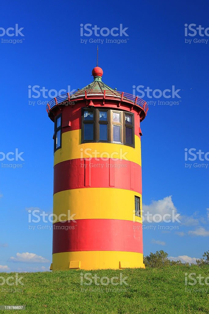 Lighthouse Pilsum at the North Sea, Germany royalty-free stock photo