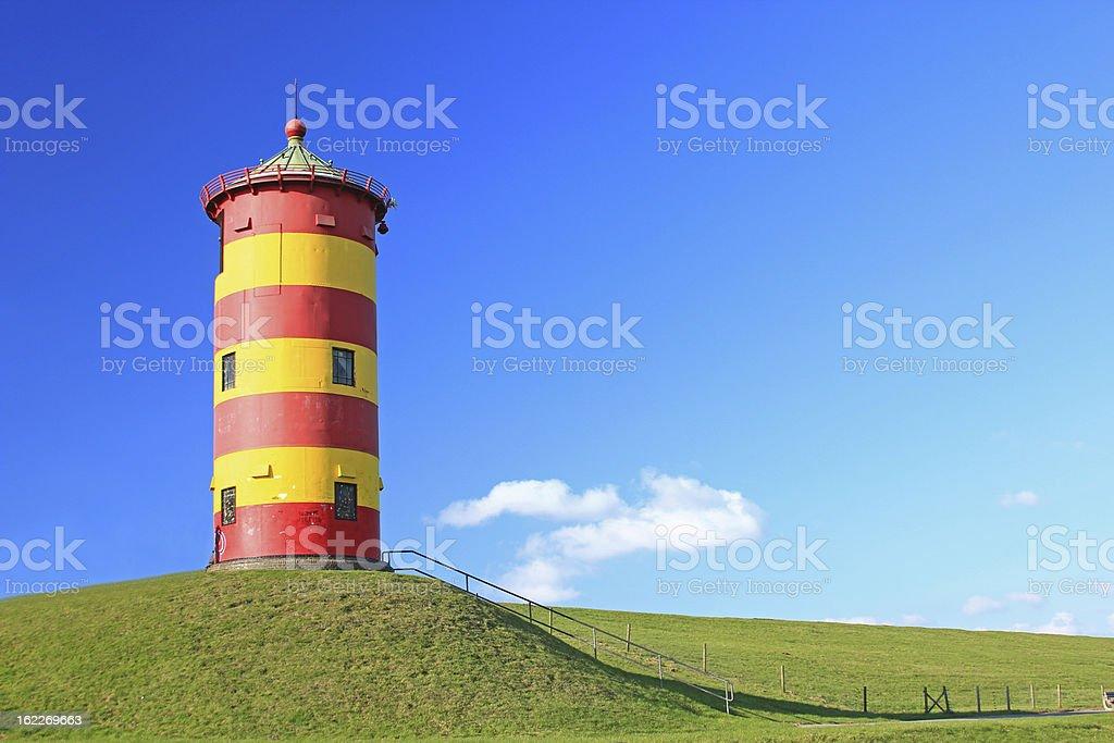 Lighthouse Pilsum, Germany stock photo