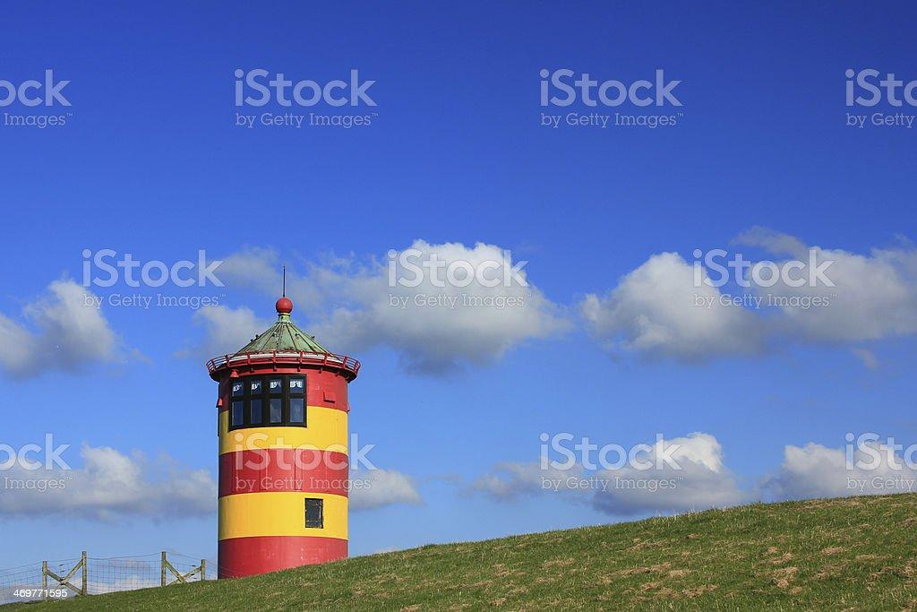 Lighthouse Pilsum, North Sea, Germany stock photo