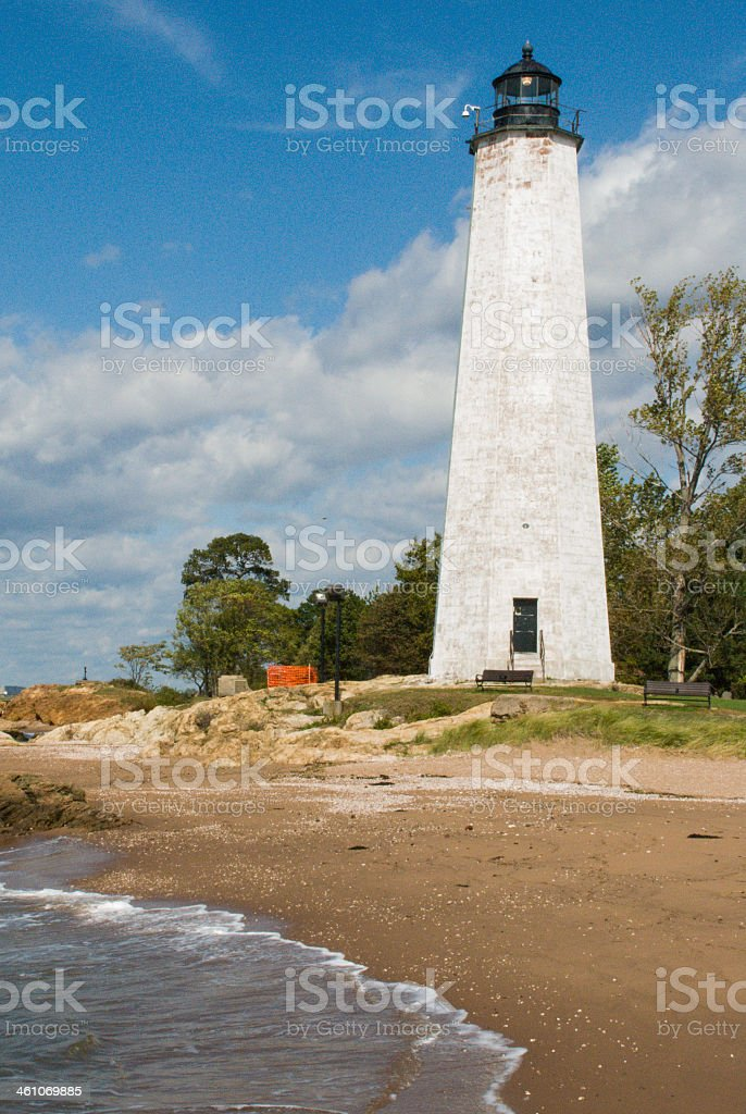 Lighthouse Point in East Haven Connecticut stock photo