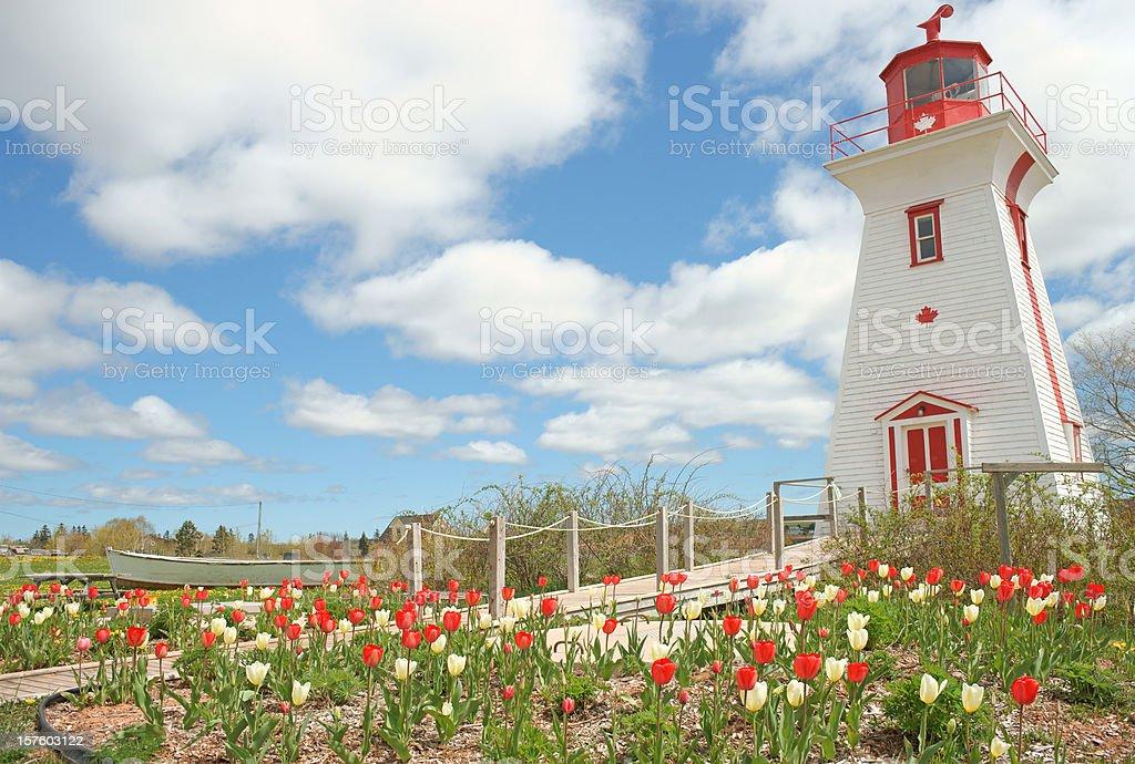 Lighthouse. Prince Edward Island, Canada. stock photo