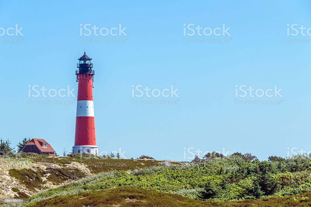 Lighthouse Red and White Striped stock photo