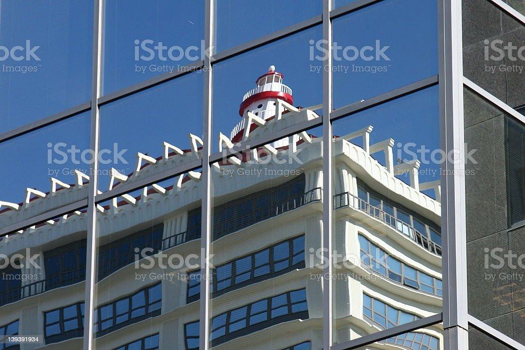 Lighthouse Reflections 4 stock photo