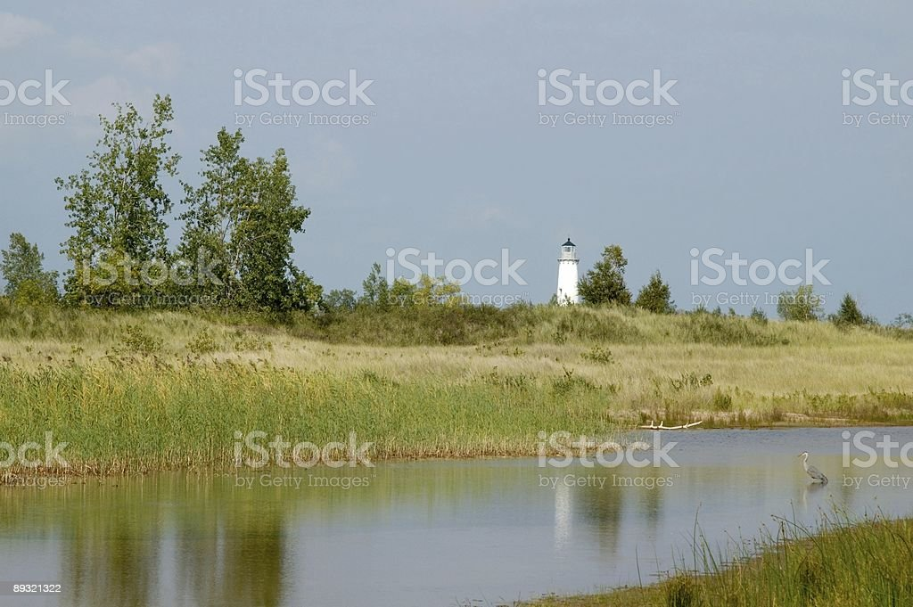 Lighthouse Reflections stock photo