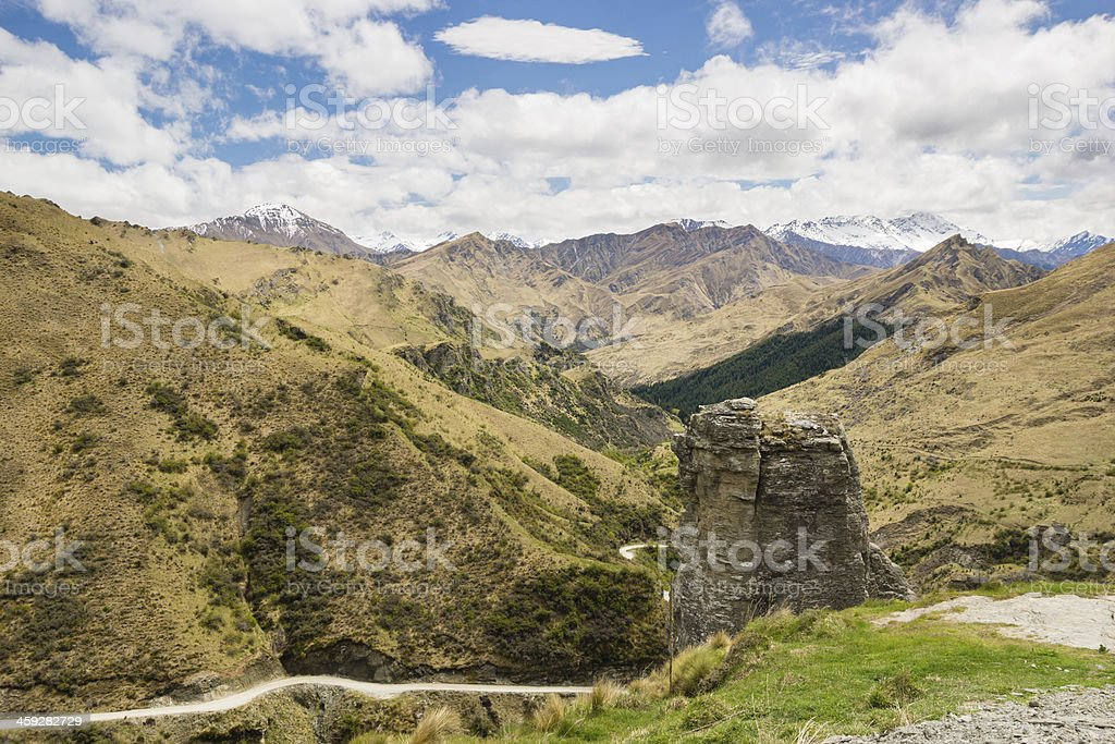Lighthouse rock in Skippers Canyon, New Zealand stock photo