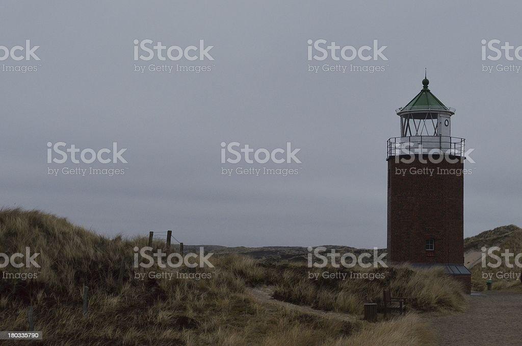 lighthouse 'Rotes Kliff', Sylt royalty-free stock photo