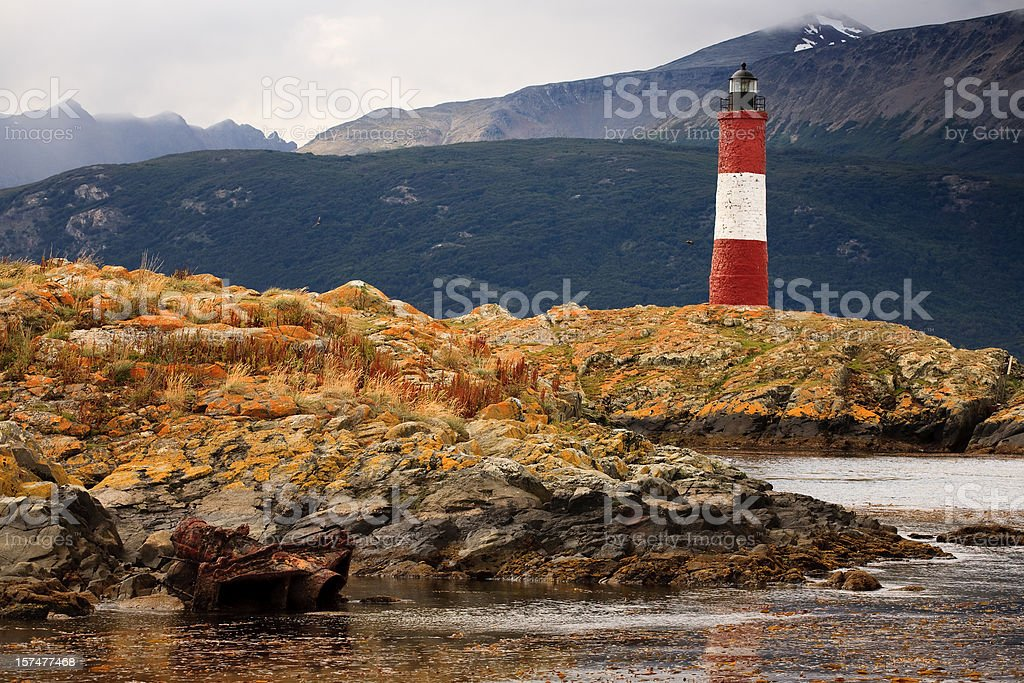 Les Eclaireurs Lighthouse stock photo