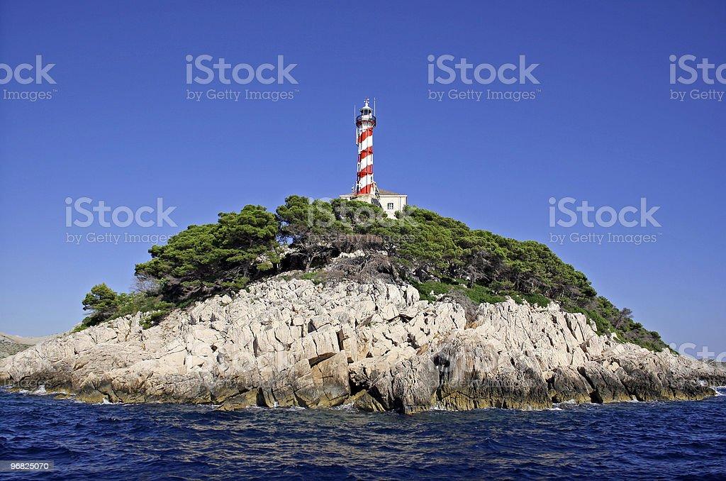 lighthouse Sestrice stock photo