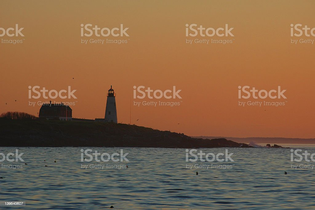 Lighthouse silhouette royalty-free stock photo