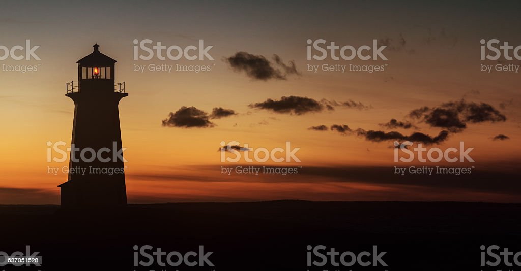 Lighthouse Silhouette stock photo