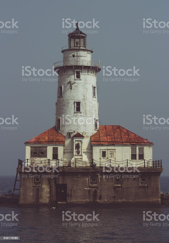 Lighthouse somewhere in the world stock photo