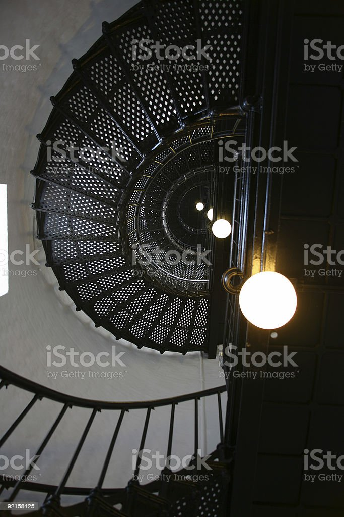 Lighthouse Spiral Staircase stock photo