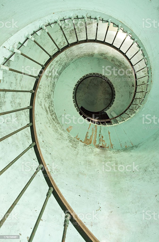 lighthouse spiral stairs stock photo