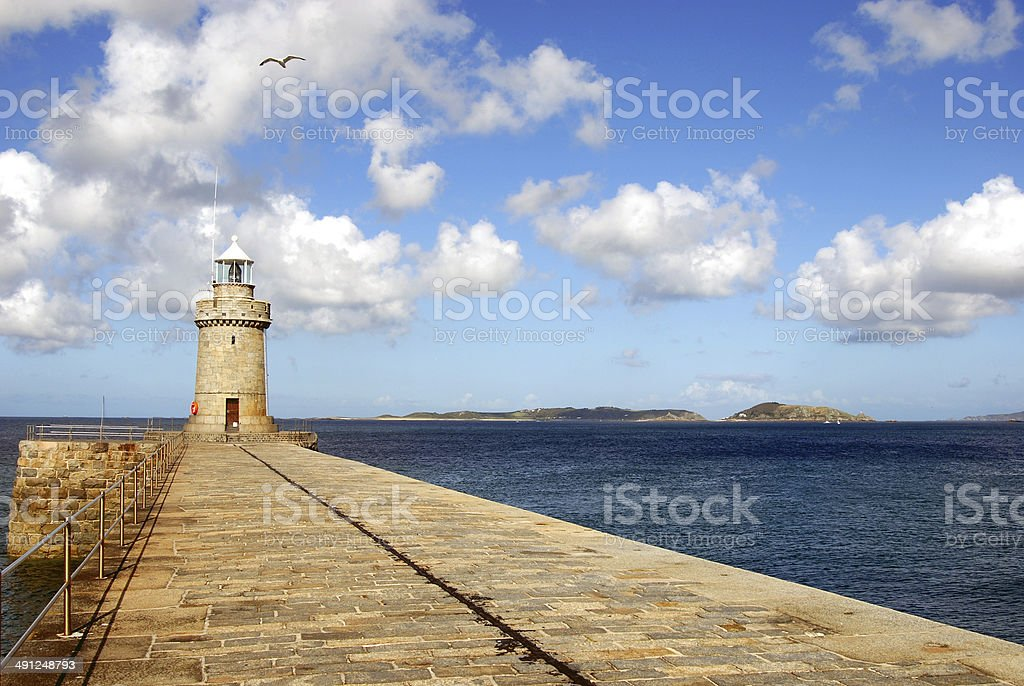 Lighthouse, St Peter Port, Guernsey stock photo