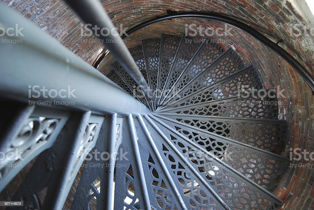 Lighthouse Stairway royalty-free stock photo