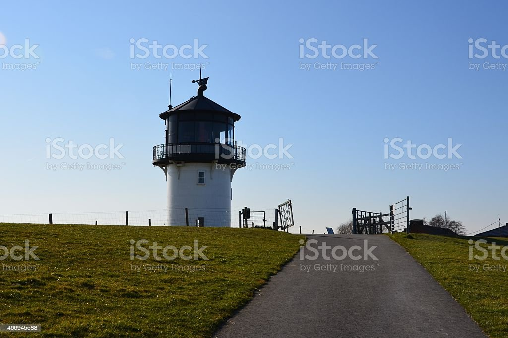 lighthouse Dicke Berta stock photo