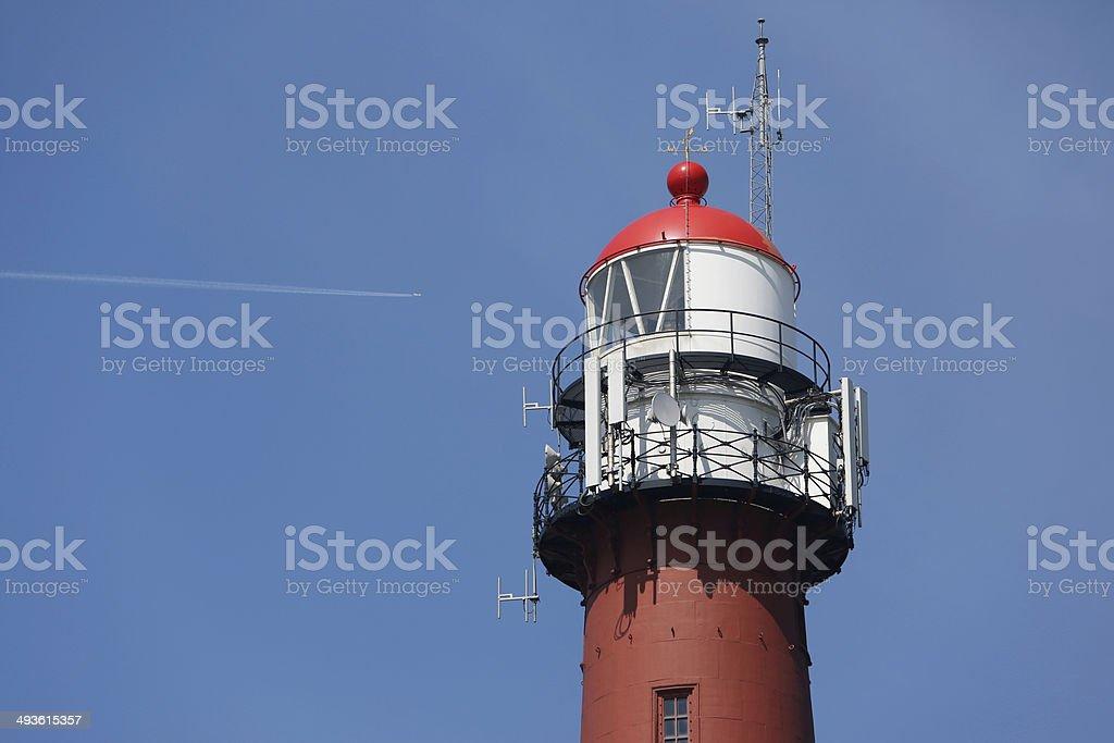 Lighthouse Top IJmuiden stock photo