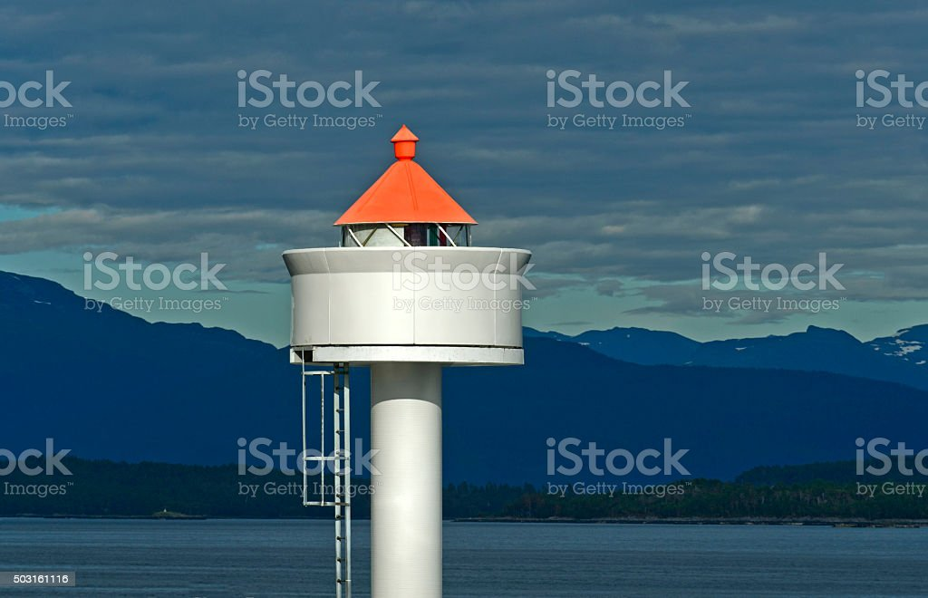 Lighthouse top stock photo