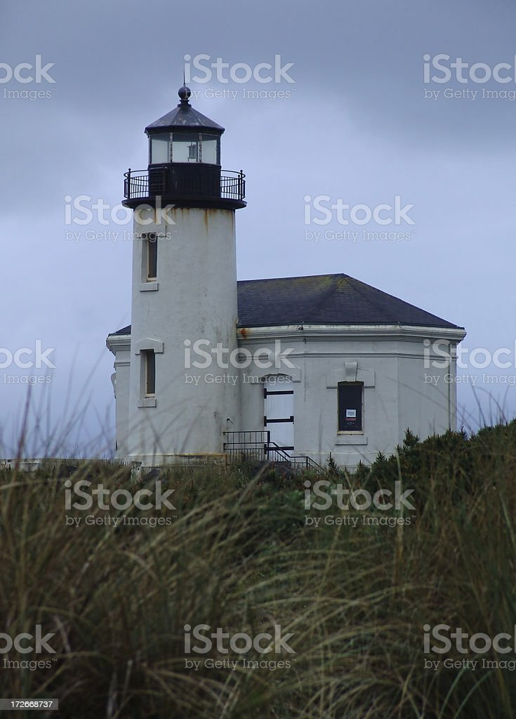 Lighthouse under the Weather royalty-free stock photo