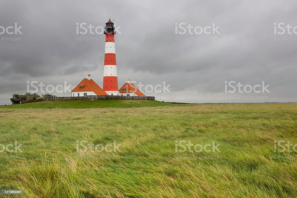 Lighthouse Westerhever stock photo