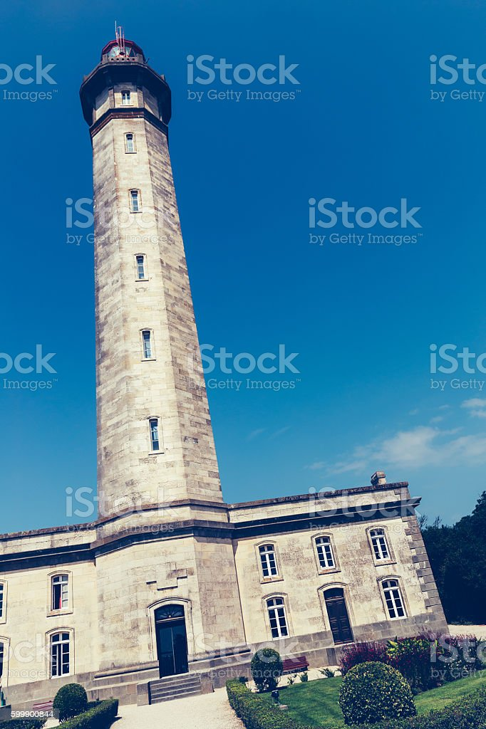 Lighthouse Baleines on Ile de Re, France stock photo