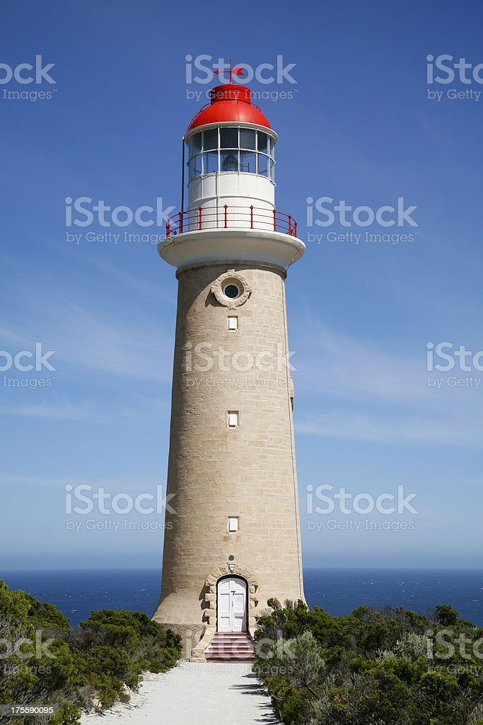 Lighthouse with red dome royalty-free stock photo
