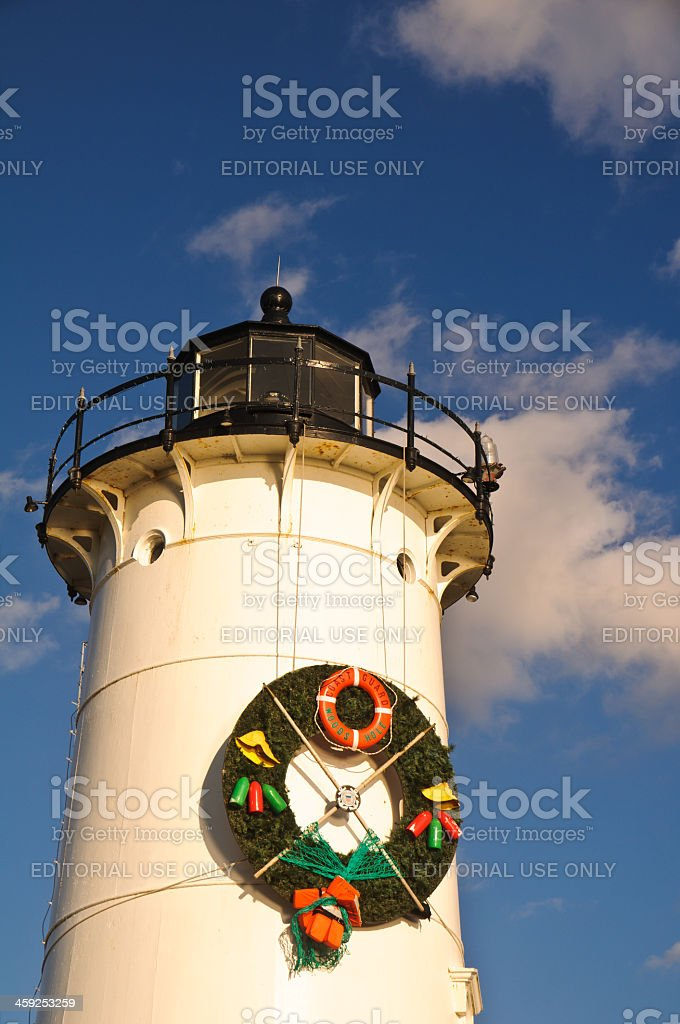 Lighthouse Wreath Detail royalty-free stock photo