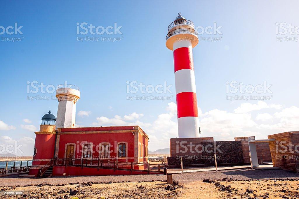 Lighthouses on the northern part of Fuerteventura island stock photo