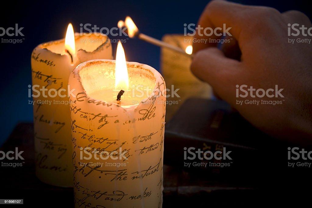 Освещения свечи Стоковые фото Стоковая фотография