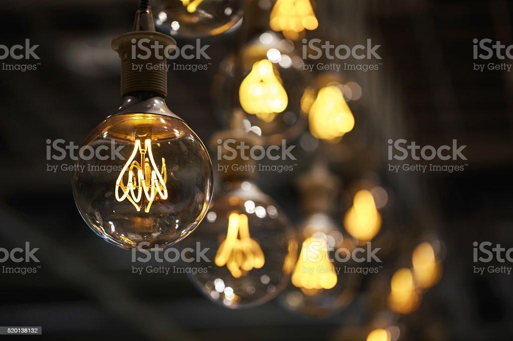 Lighting decor macro stock photo
