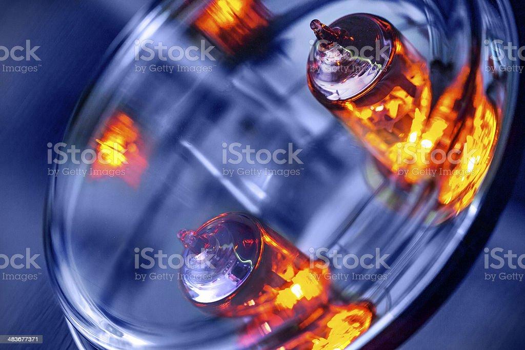 Lighting Electronic Tubes stock photo