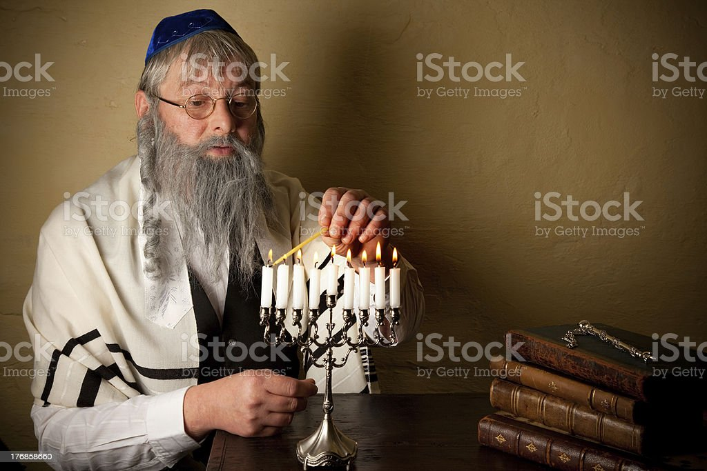 Lighting for hannukah royalty-free stock photo