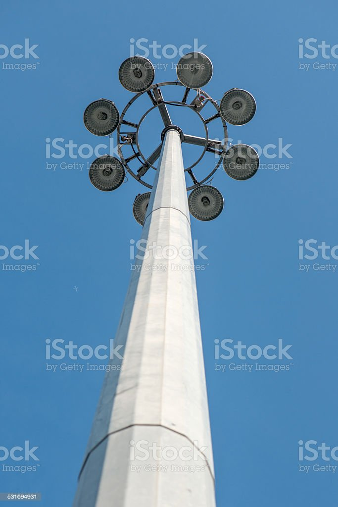 lighting for large squares royalty-free stock photo