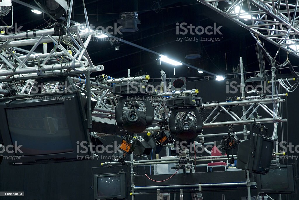Lighting Gantry at an outside broadcast royalty-free stock photo