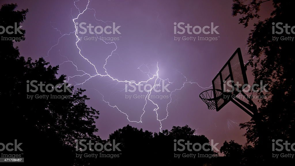 Lighting hoop stock photo
