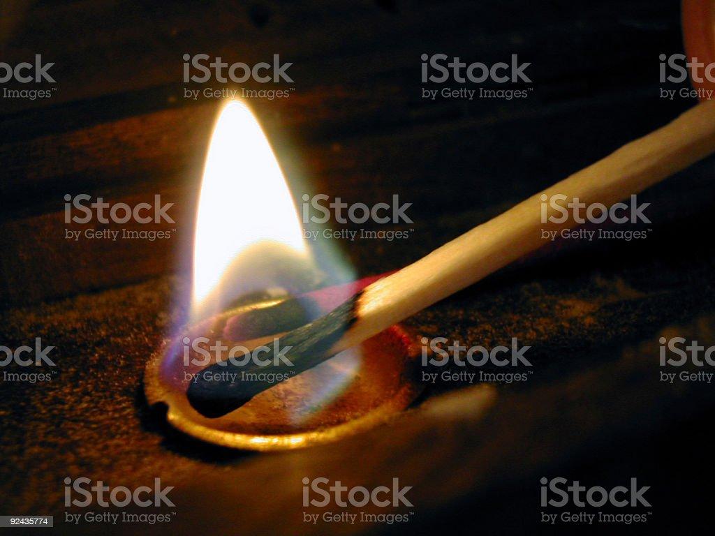 Lighting Incense royalty-free stock photo