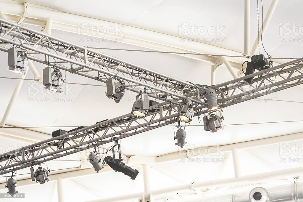 lighting rig stock photo