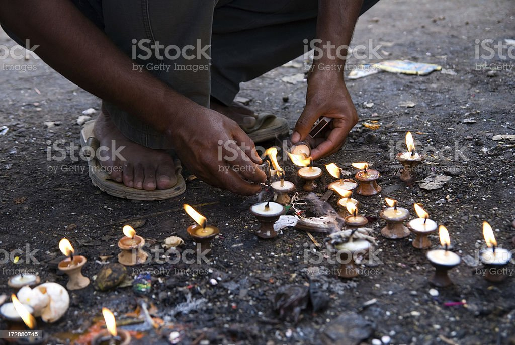 Lighting Ritual royalty-free stock photo