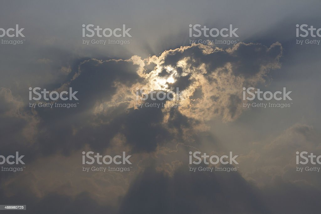 Lighting Up a Dark Sky royalty-free stock photo
