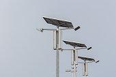 Lighting using solar energy as a power generator