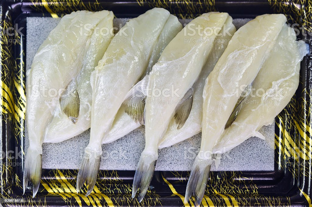 Lightly Salted and Dried Overnight Puffer Fish (Balloonfish) stock photo