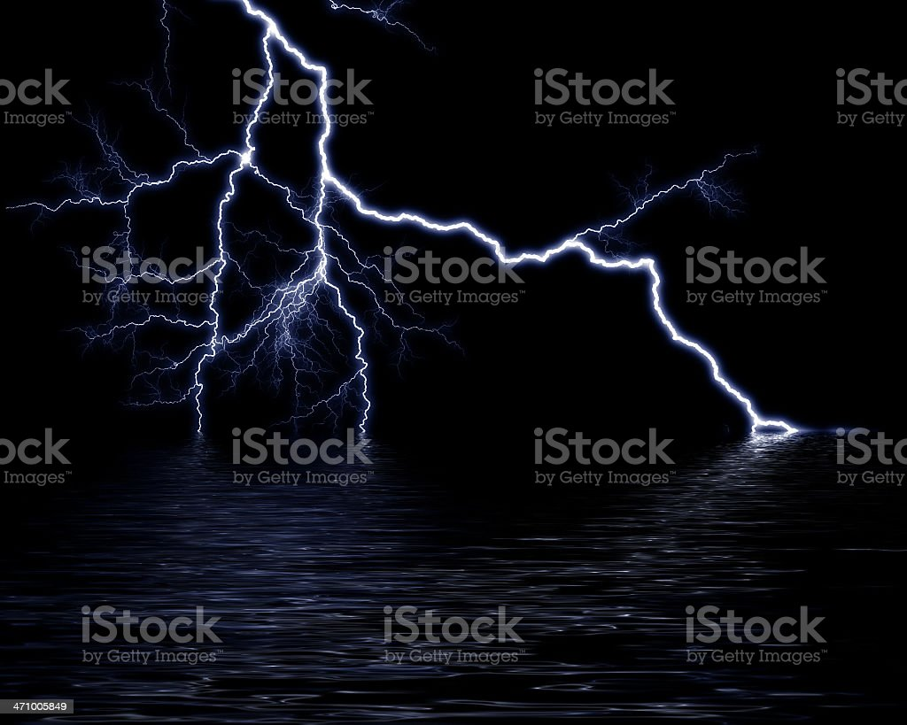 lightning 101 stock photo