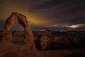 Lightning At Delicate Arch